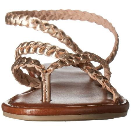 58058f27e8b MIA Amore Womens Braid Leather Open Toe Casual Strappy