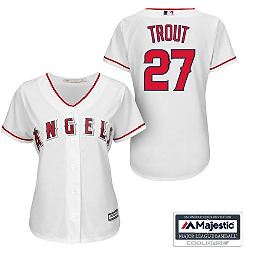 7cae92afb ... official store mike trout los angeles angels of anaheim 27 mlb womens cool  base home jersey