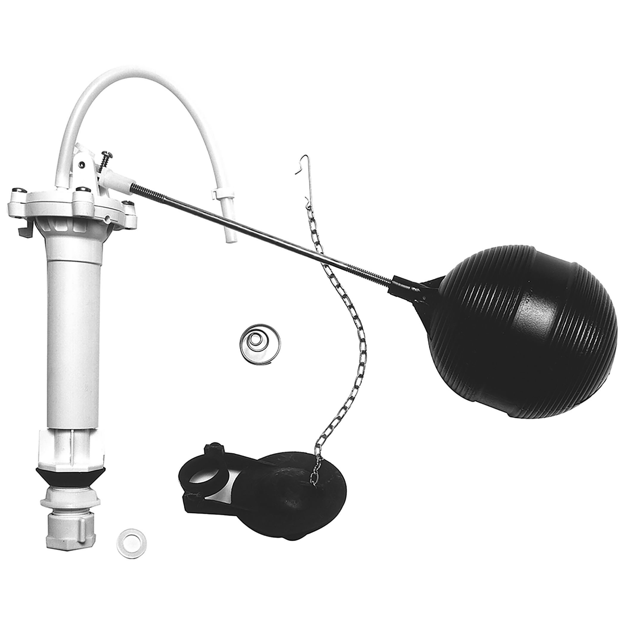 DANCO Complete Toilet Repair Kit, Fill Valve, Flapper, Rod, Float Replacement (80816)
