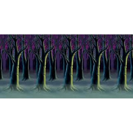 Pack of 6 Spooky Forest Trees at Dark Backdrop Halloween Party Decorations - Spooky Halloween Tree