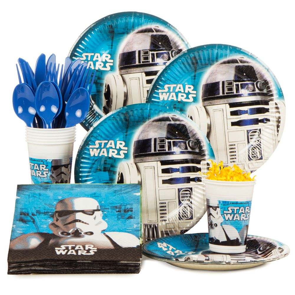 Star Wars Birthday Party Standard Tableware Kit Serves 8 - Party Supplies