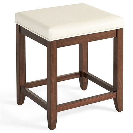Brass Mahogany Vanity (Crosley Furniture Vista Vanity Stool In Mahogany With White)