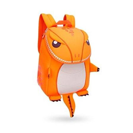 Coavas Kids Backpack Boys S Primary School Book Bags Cute Orange Dinosaur Christmas Gift For