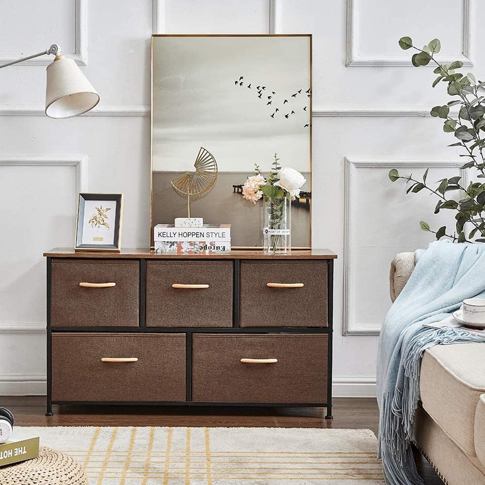 Stop Now 5 Drawer Dresser Fabric Closet Shelves Organization For Bedroom Walmart Com Walmart Com