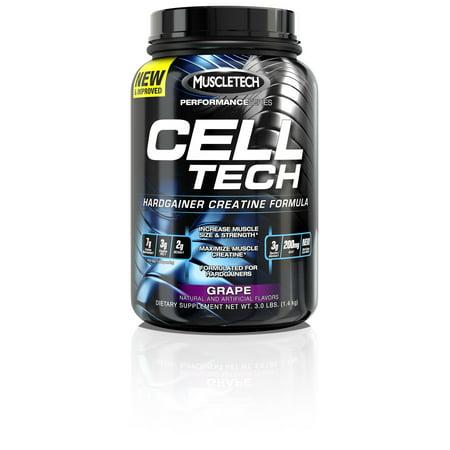 MuscleTech Cell Tech Hardgainer Creatine Powder, Orange, 28