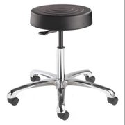 "BEVCO ErgoLux Backless Pneumatic Stool 17"" to 22"", Black, S3050-Black seat"