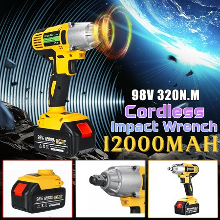 98VF 320NM 12000mAh Cordless Electric Impact Wrench Drill High Torque