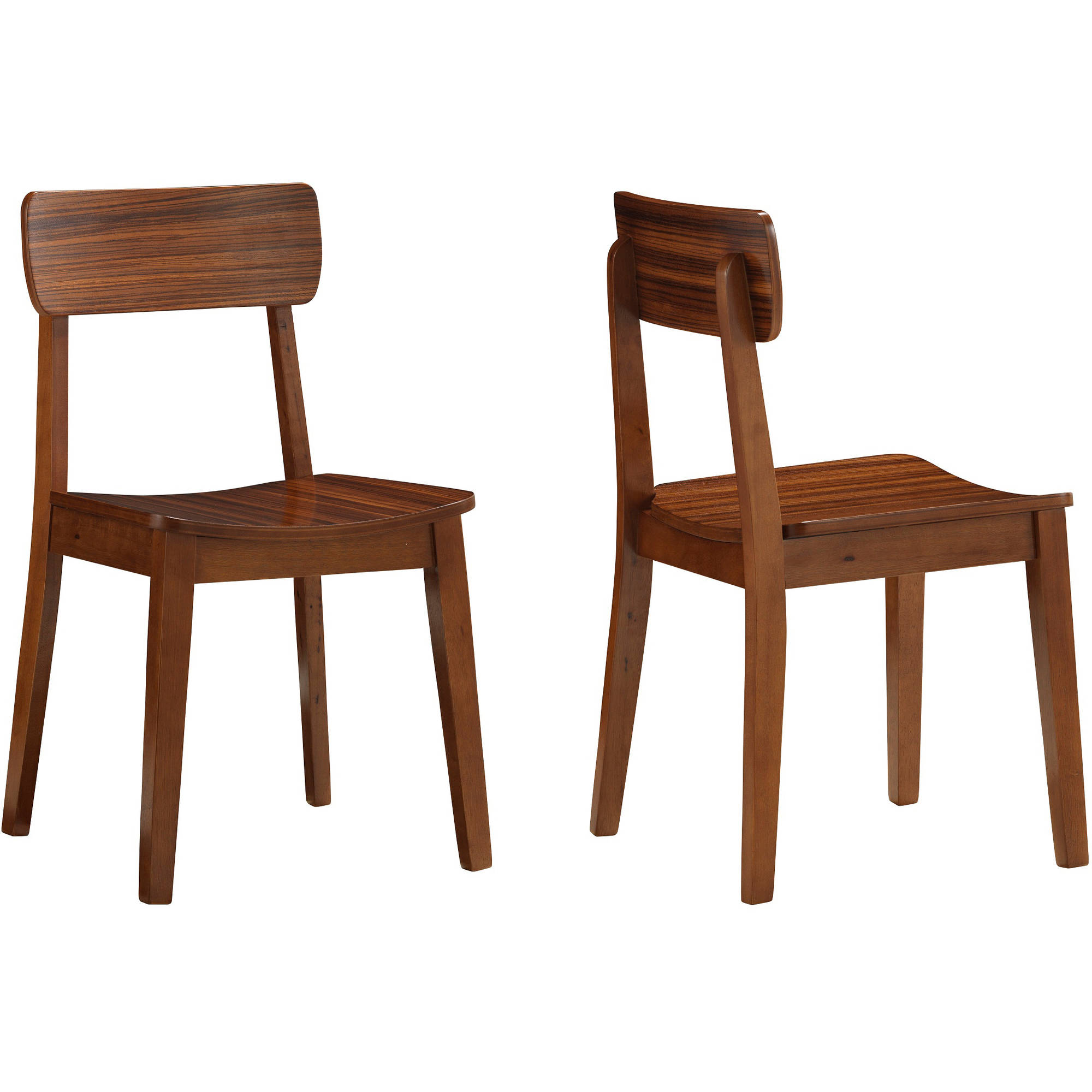 Nice Boraam Zebra Series Hagen Dining Chairs, Set Of 2, Walnut   Walmart.com
