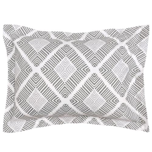 LaMont Home Equinox Geometric Patterned Cotton Sham Standard Sham Grey
