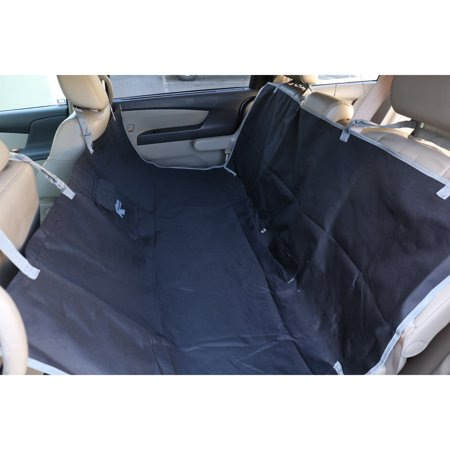 Carseat Cover for Pets Dogs Cats Heavy Duty Waterproof Hammock Car Seat Protector fits Cars Truck & SUV Black (Heavy Truck Seats)