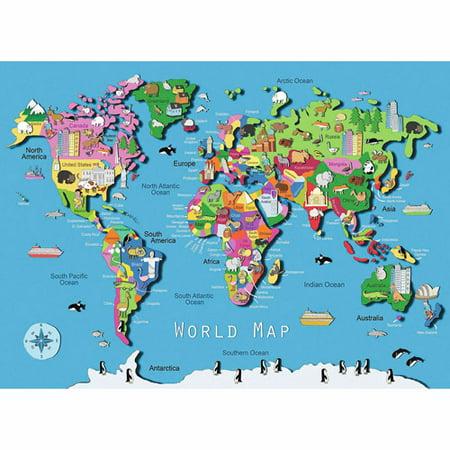 World Map Puzzle Pieces Walmartcom - World map puzzle