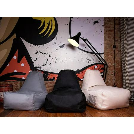 Swell Modern Bean Bag Chair Beige Polyester Eps Bead Filling Lounger Siesta Ibusinesslaw Wood Chair Design Ideas Ibusinesslaworg