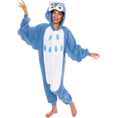 SILVER LILLY Unisex Adult Plush Animal Cosplay Costume Pajamas (Owl)