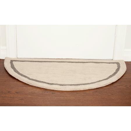 Deluxe Comfort Henley Wool Semicircle Foyer Rug, 44