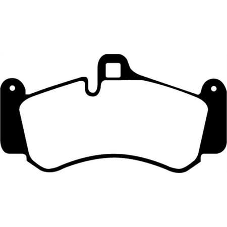 EBC 01-03 Porsche 911 (996) (Cast Iron Rotor only) 3.6 Twin Turbo GT2 Yellowstuff Front Brake (996 Turbo)