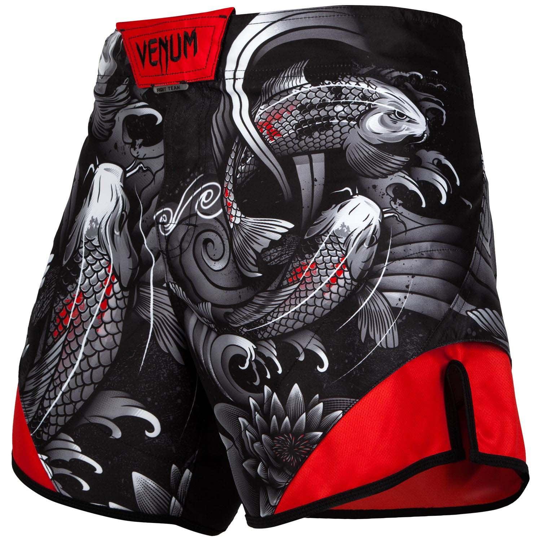Venum Men/'s Koi 2.0 Fight Shorts Short Cut MMA Black//White