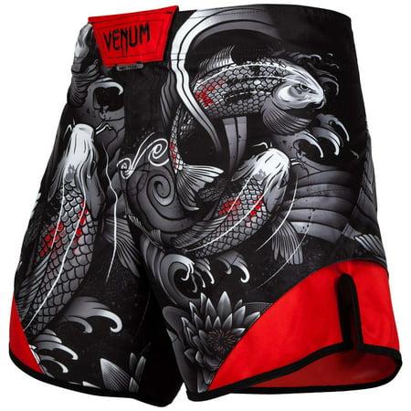 Venum Men's Koi 2.0 Fight Shorts Short Cut MMA Black/White ()