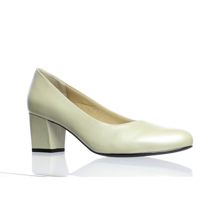 Trotters Womens Candela White Pearl Pumps Size 6.5 (AA,N)