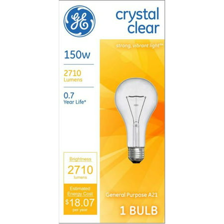 GE 150W Incandescent Light Bulb