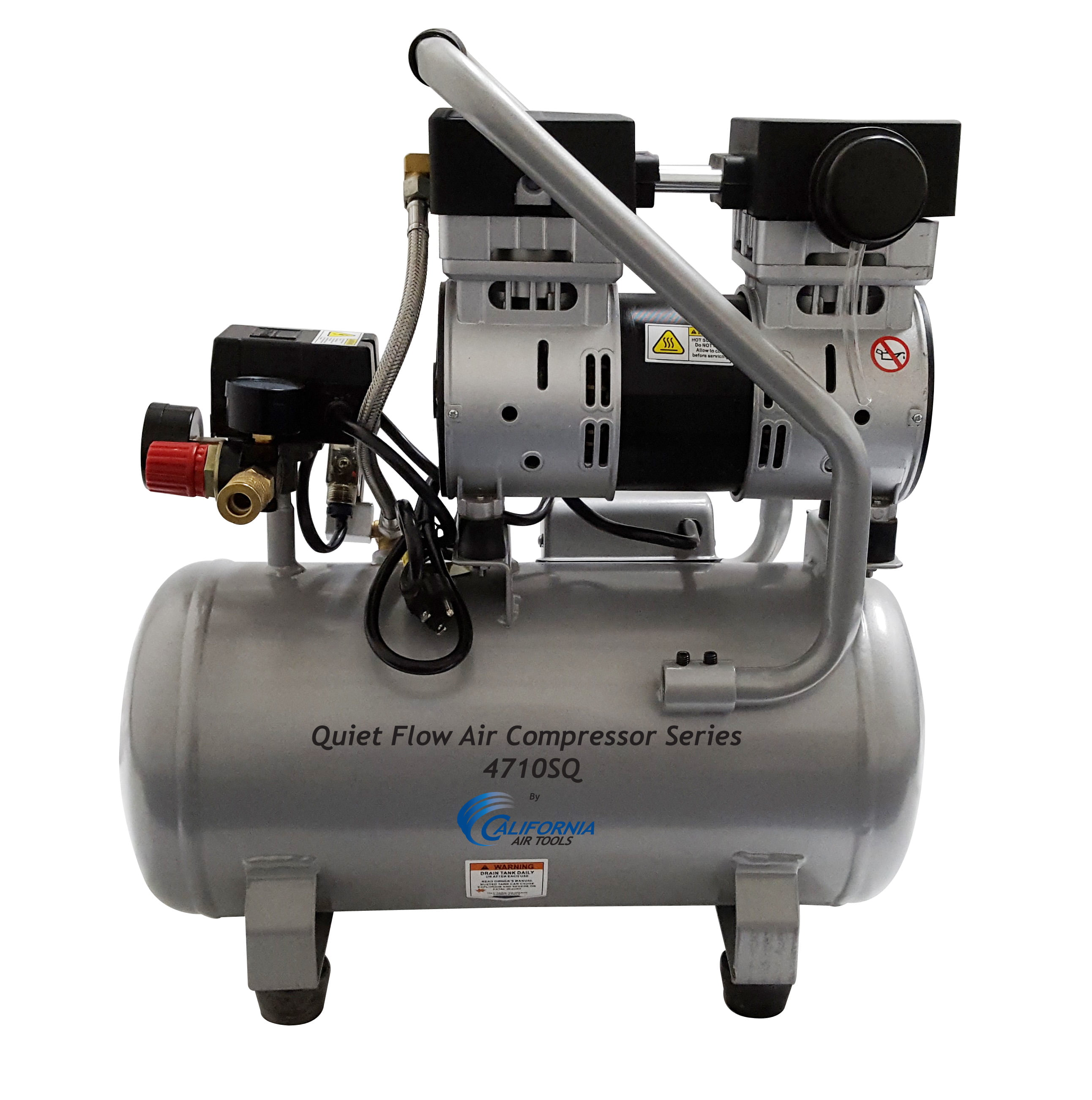 California Air Tools 4710SQ Quiet Flow 1.0 Hp, 4.7 Gal. Steel Tank Air Compressor by California Air Tools