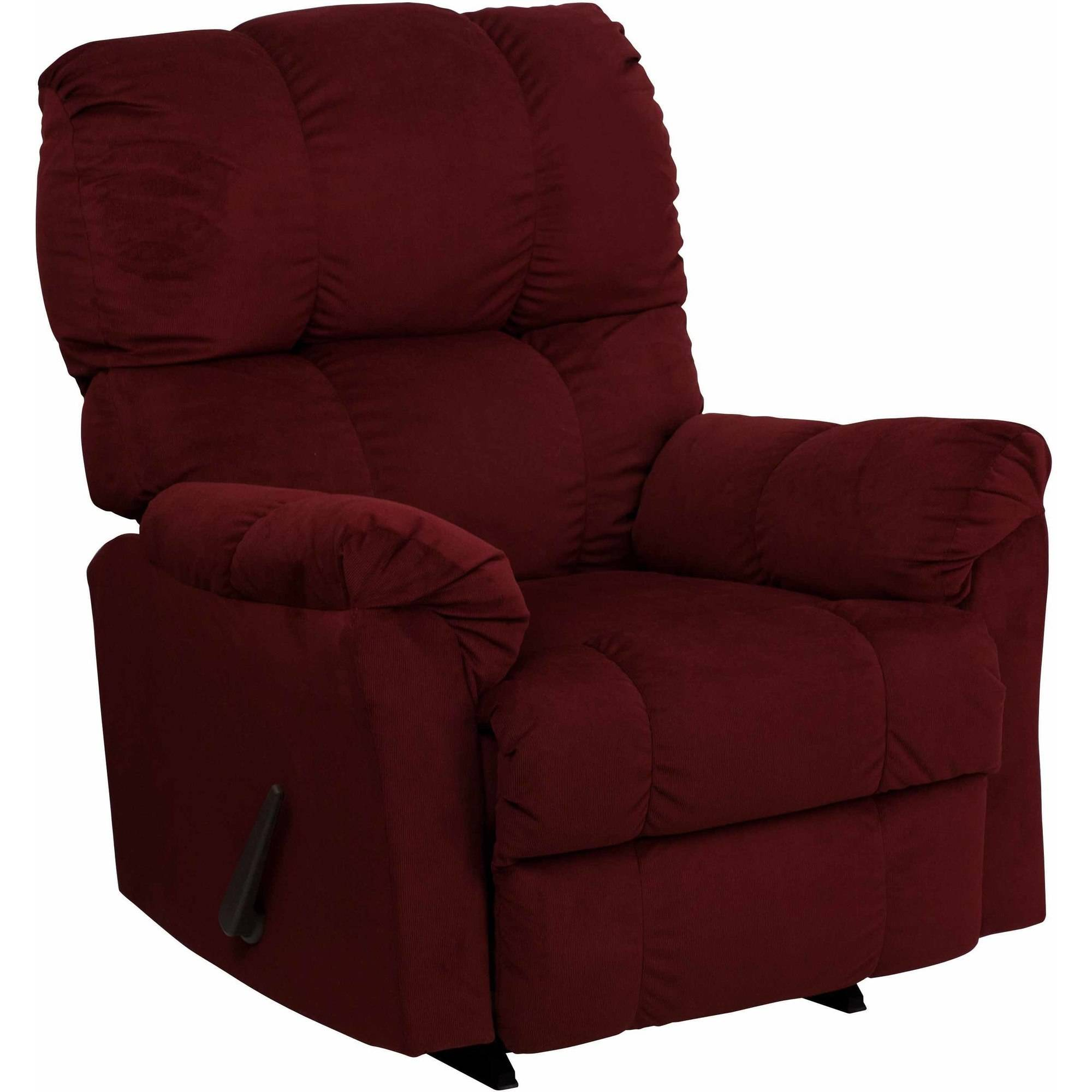 Flash Furniture Contemporary Top Hat Microfiber Rocker Recliner, Multiple Colors