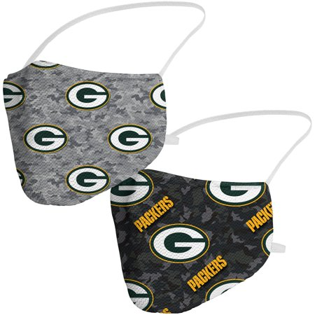 Green Bay Packers Fanatics Branded Adult Camo Face Covering 2-Pack