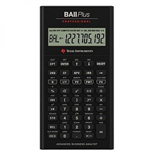 Texas Instruments TI BA II Plus Professional Financial Ca...