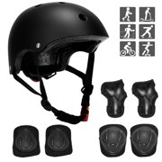 SAYFUT 7Pcs Kids Protective Gear Set, Bike Knee Pads and Elbow Pads With Wrist Guards, For Children Skateboard Skating Cycling Riding Blading