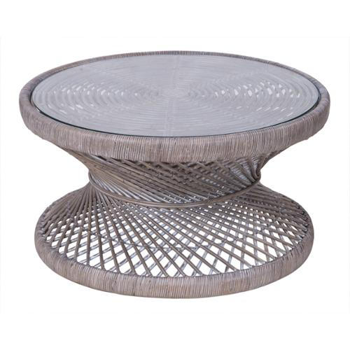 Crafted Home 's  Erin Round Rattan Coffee Table