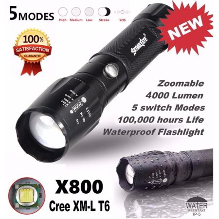 5000LM G700 Tactical LED Flashlight X800 Zoom Super Bright Military Light Lamp