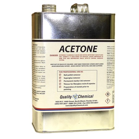 ACETONE - Fast Drying Solvent and Degreaser - 1 gallon (128