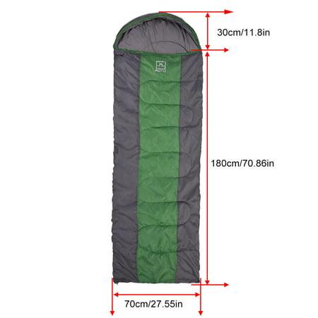 TOPINCN 2 Colors Portable Envelope Warm Comfortable Sleeping Bag for Outdoor Camping Hiking, Travel Sleeping Bag, Camping Sleeping Bag - image 8 of 8
