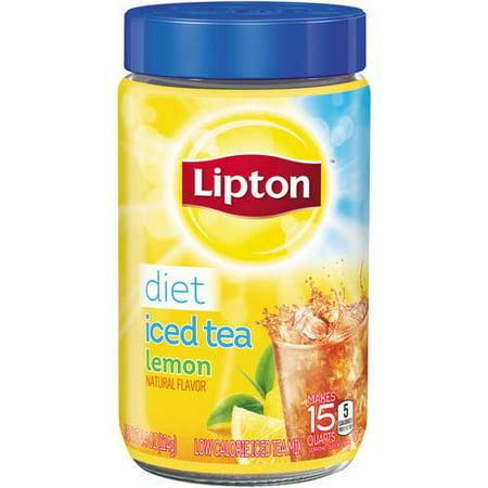 Lipton Diet Lemon Black Iced Tea Mix, 15 (Crystallized Lemon)