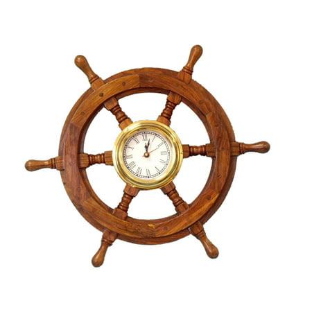 Ship Wheel Clock 18