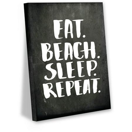 Awkward Styles Eat Beach Sleep Repeat Canvas Art Motivational Gifts Ho