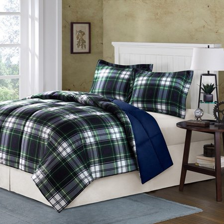 Madison Park Essentials Parkston Down Alternative Comforter Mini Set, King/ California King, Navy, Set includes: 1 comforter, 2 King shams By Comfort Classics Inc.