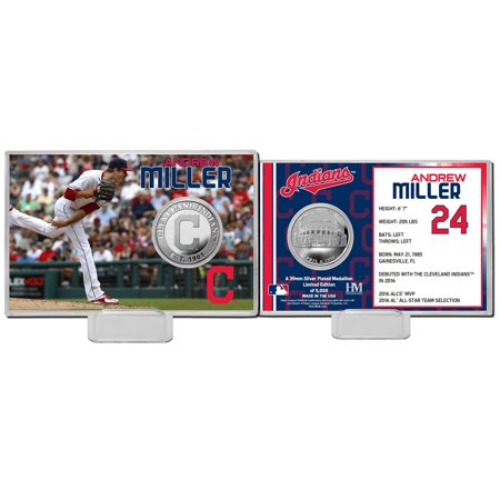 Andrew Miller Cleveland Indians Highland Mint Mint Player Silver Collector Coin Card - No Size