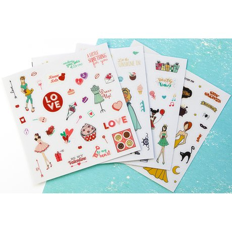 Julie nutting planner clear matte stickers 4 pkg
