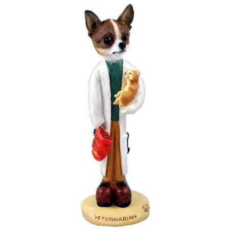 Chihuahua Brindle & White Veterinarian Doogie Collectable Figurine