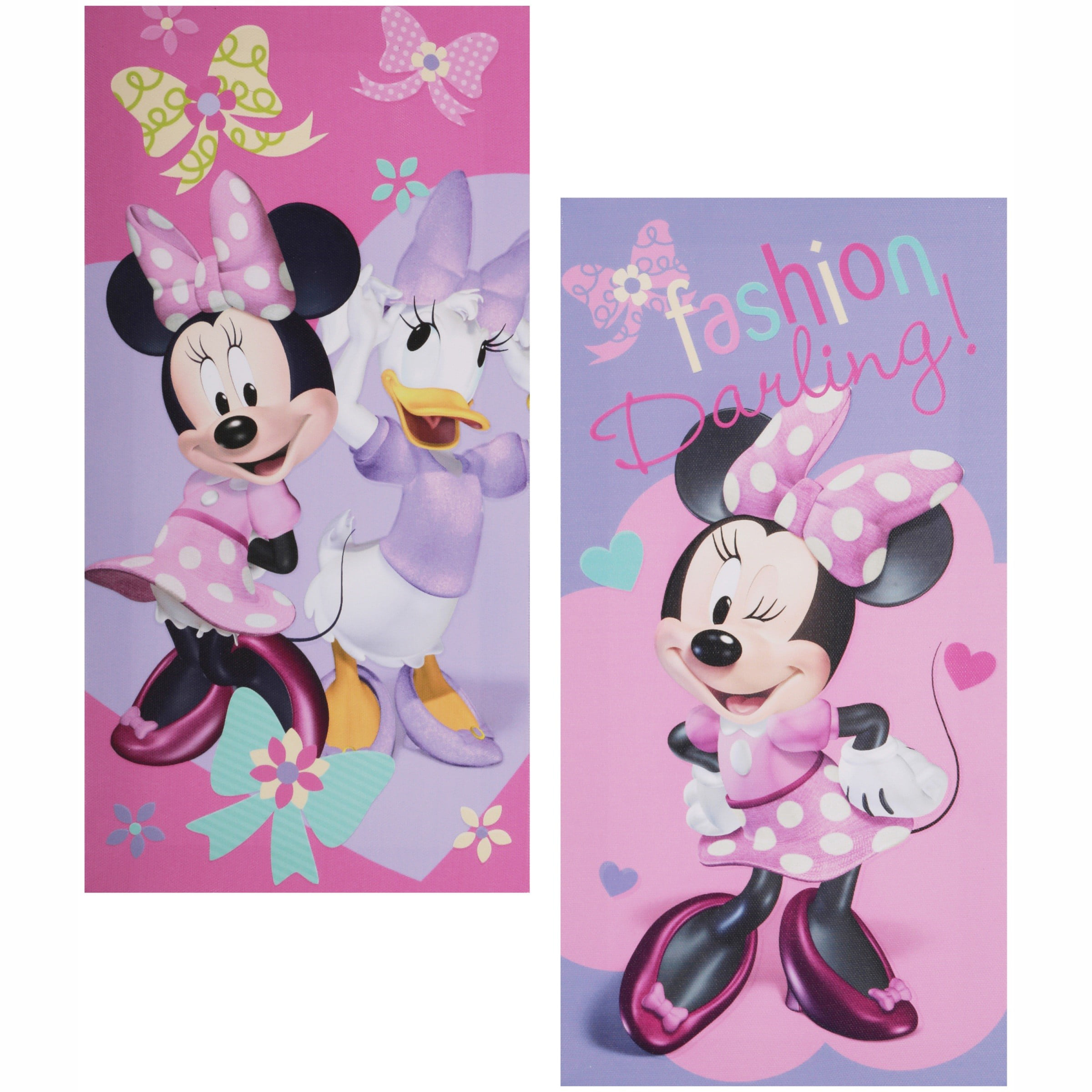 Disney Minnie Mouse Glow In The Dark 2 Count Canvas Wall Art