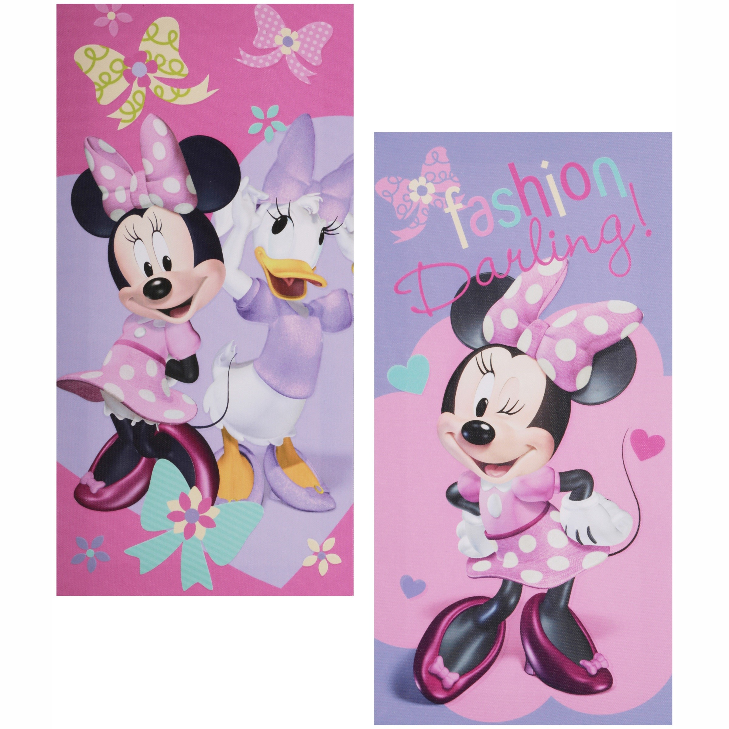 Disney Minnie Mouse Glow in the Dark 2-Count Canvas Wall Art