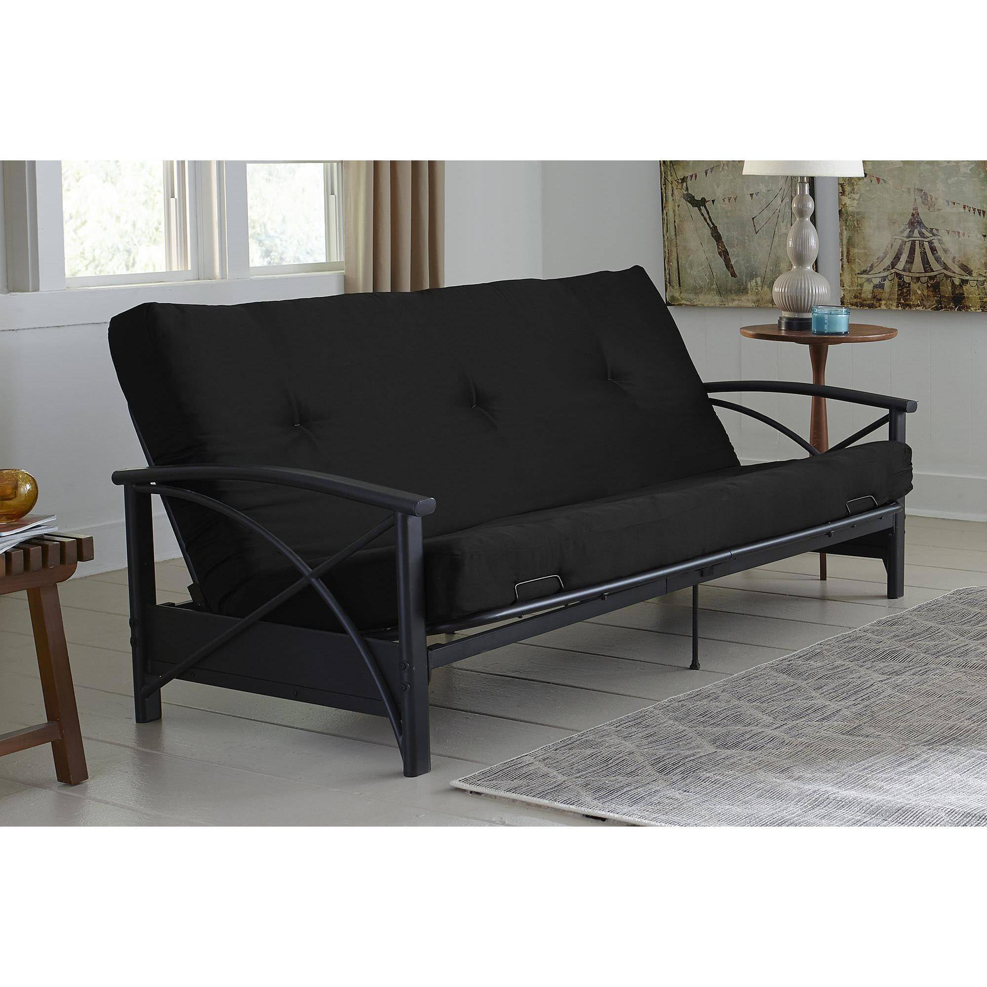 futon dhp sourceimage eng living wood furniture details with hudson futons mattress room arm products brown
