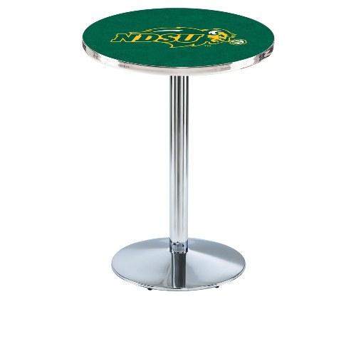 NCAA Pub Table by Holland Bar Stool, Chrome/Green - NDSU,...