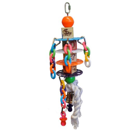 Bonka Bird Toys 1101 Whirleychain Bird Toy.