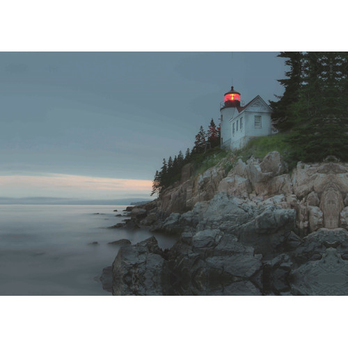 Northlight Seasonal LED Lighted Lighthouse Home with Morning Sunrise Photographic Print on Canvas