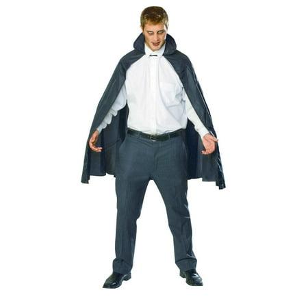 45 Inch Black Taffeta Cape Adult Halloween Costume](45 Grave Halloween)