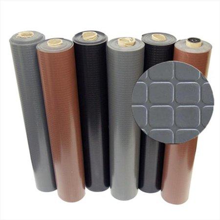 Block-Grip Rubber Flooring Rolls - Brown, 420 x 48 x 0.08 in. ()