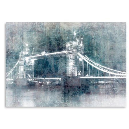 East Urban Home Digital Art Tower Bridge At Night Graphic Art