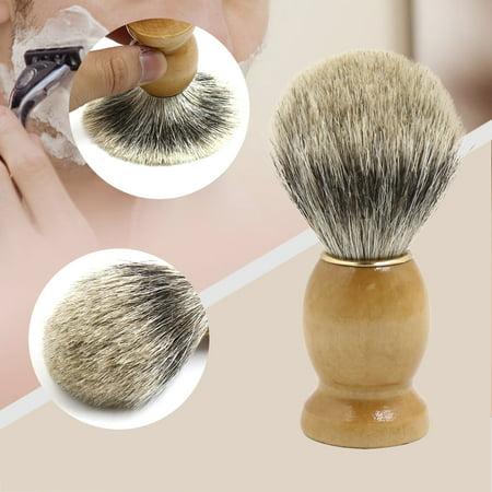 Burlywood Knot Soft Pure Badger Hair Shaving Brush Salon Tool for