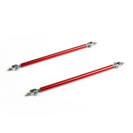 Areyourshop Universal Front/Rear Bumper Lip Splitter Strut Brace Rod Support Bars Kit Brace Rear Carbon Steel Strut